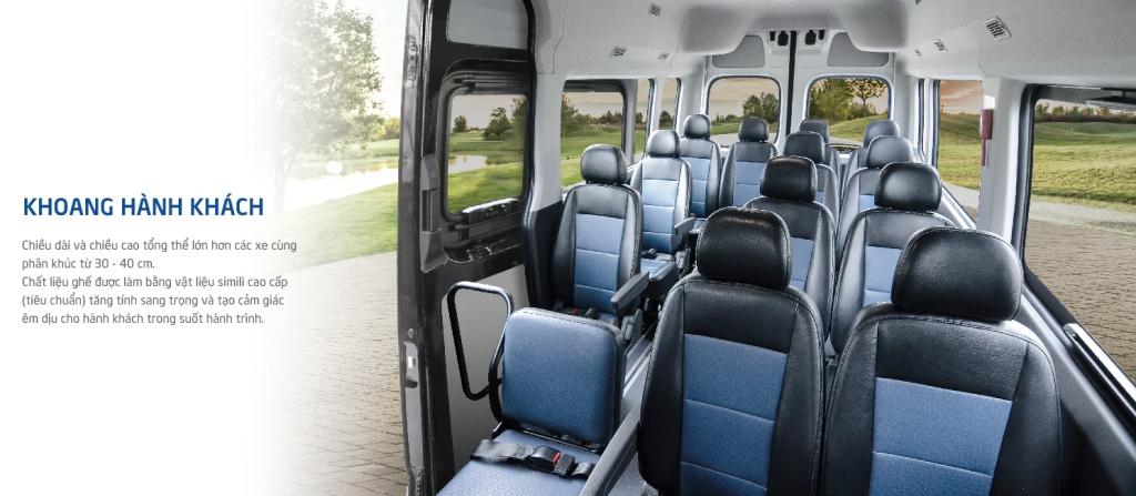 Khoang hành khách Không gian khoang hành khách rộng thoáng, giúp cho việc di chuyển dễ dàng, phù hợp với hầu hết hành khách trong nước và nước ngoài.