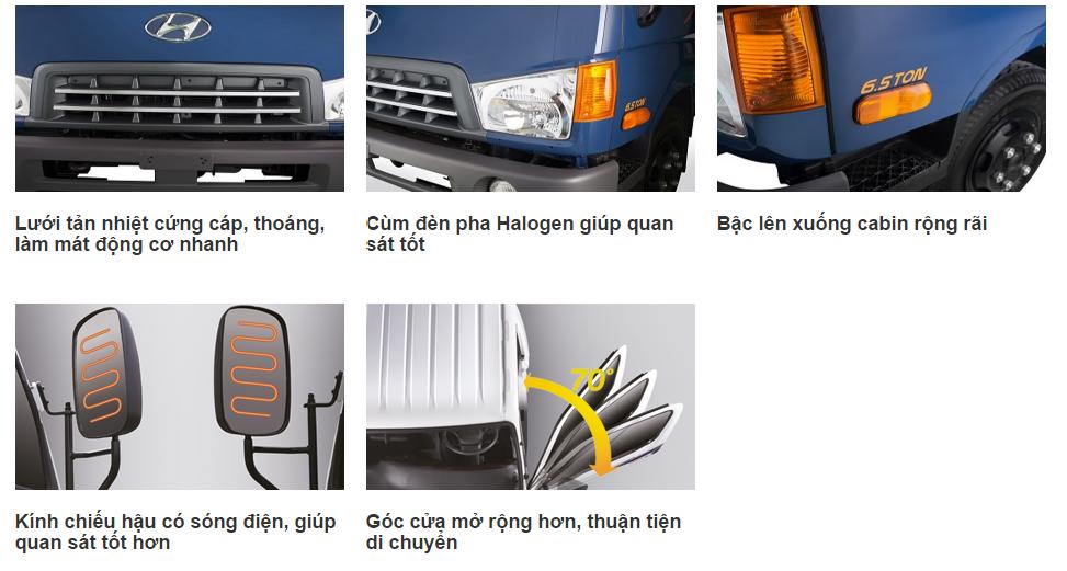 ngoai-that-hd-99 Xe tải Hyundai: Xe tải Hyundai HD99 thùng mui bạt 6,5 tấn | Hyundai Bình Chánh