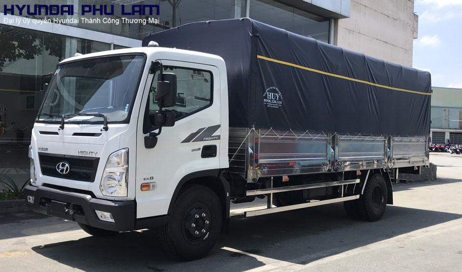 hyundai-ex8-thung-bat HYUNDAI EX8L 8 TẤN HYUNDAI 8 TẤN MIGHTY EX8 GTL | Hyundai Phú Lâm