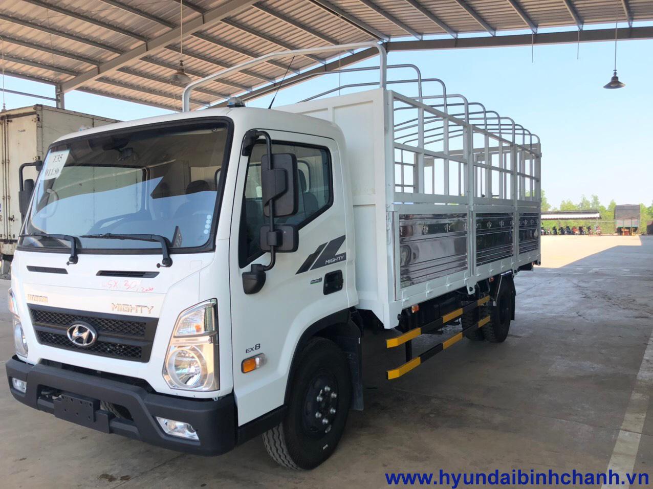 hyundai-mighty-ex8 Hyundai EX8 7.5 tấn 2020 thùng dài 5.7 mét hoàn toàn mới | Hyundai Phú Lâm